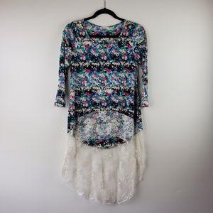 Black Bead women's asymmetrical top blouse